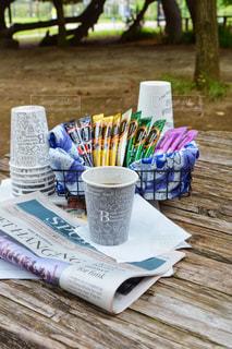 ピクニック 公園 コーヒー ネスカフェ スティックの写真・画像素材[1308687]