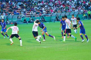 フットボール選手のフィールドのグループの写真・画像素材[1324539]