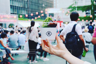 ゆかたで銀ぶら 夏祭り 日本の夏 平成最後の夏 かき氷 虎屋 抹茶の写真・画像素材[1362784]