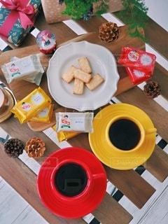 ビスコでありがとう クリスマス メッセージ サンタ公認菓子の写真・画像素材[2754664]