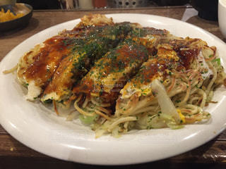 食事,昼食,みっちゃん,広島お好み焼き,豚エビ天入りお好み焼き
