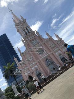 ピンク,教会,ダナン,ピンク色,桃色,pink,ダナン大聖堂