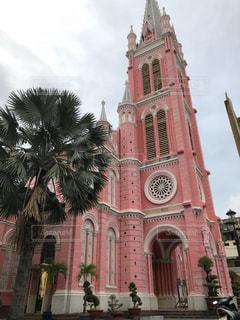 ピンク,教会,ベトナム,ピンク色,ホーチミン,桃色,pink