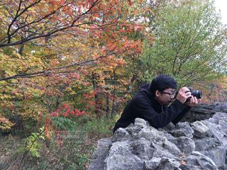 紅葉,海外,撮影,子供,眼鏡,写真,カメラマン,息子,一眼レフ,夢,ポジティブ,目標,一眼レフカメラ,可能性,カメラ男子,叶える,目標設定