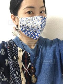付けてる人が美しく見える世界でたった一つのハンドメイドマスクの写真・画像素材[3125476]