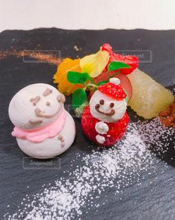 ケーキ,いちご,雪だるま