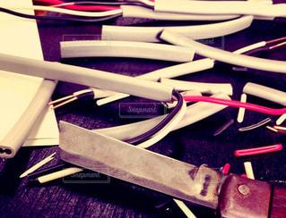 テーブルの上に座ってナイフの写真・画像素材[812422]