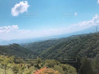 背景の山と木の写真・画像素材[1426751]