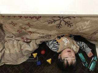 こたつでお昼寝の写真・画像素材[1778166]
