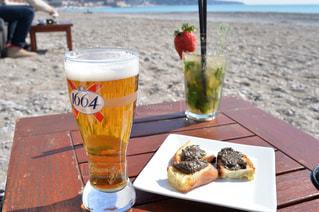 海,ランチ,お酒,海外,ビーチ,旅行,フランス,ビール,昼食,モヒート,最高,ニース,Le Voilier Plage