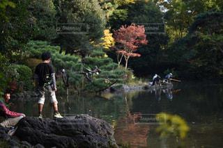 子ども,風景,公園,東京,池,子供,人,釣り,広尾,有栖川公園