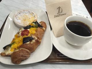 コーヒー,朝食,浜松駅,デリフランセ,ピザクロワッサン