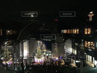 月夜のクリスマス🎄イン京都駅の写真・画像素材[914728]