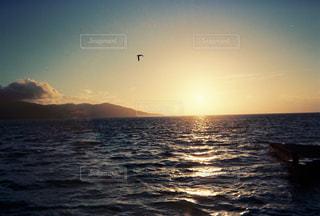 駿河湾の夕焼けの写真・画像素材[965198]
