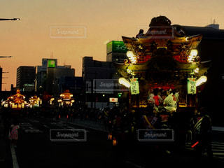 祭りの黄昏の写真・画像素材[966169]