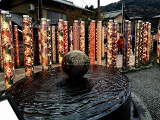 嵐山駅友禅柄ライトの写真・画像素材[1033186]
