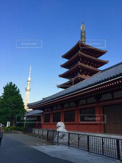浅草寺から塔Wの写真・画像素材[1109305]