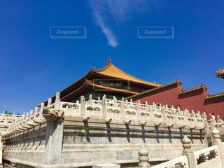青空の紫禁城の写真・画像素材[1109443]
