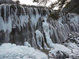 九寨溝の氷瀑の写真・画像素材[1491549]
