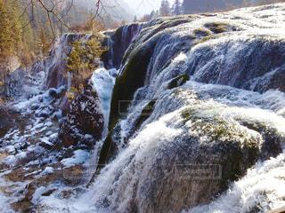 九寨溝の珍珠灘瀑布の写真・画像素材[1491592]