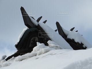 古民家に積もる深い雪の写真・画像素材[1756861]