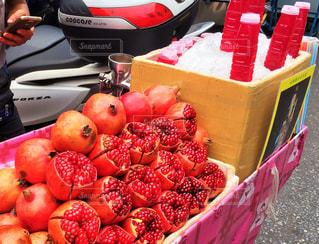 食べ物,フルーツ,果物,市場,タイ,ザクロ,露店