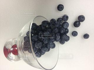 食べ物,デザート,フルーツ,果物,ガラスの器,ブルーべリー