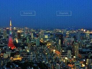 東京タワーライトアップの写真・画像素材[4136163]