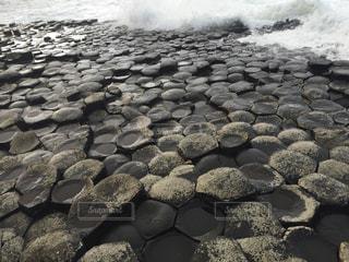 岩のビーチの写真・画像素材[787134]