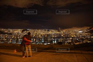 夜景,絶景,カップル,光,旅,ボリビア,南米,ラパス,ツーショット