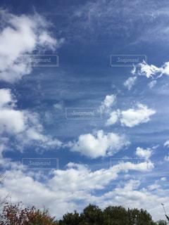 空には雲のグループの写真・画像素材[1864721]