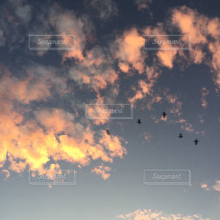 空に雲の群しをするの写真・画像素材[2424122]