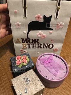 猫,指輪,プレゼント,箱,愛,手作り