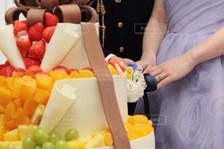 結婚式,フルーツ,オシャレ,リボン,ウエディング,豪華,華やか,ケーキカット,デザイン賞
