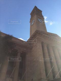 空,太陽,綺麗,時計,外,高い,時計塔