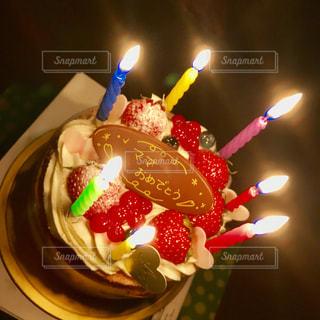 ケーキ,カラフル,誕生日,お祝い,ロウソク