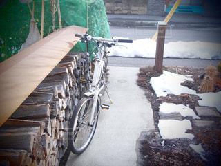 春,自転車,サイクリング,雪解け