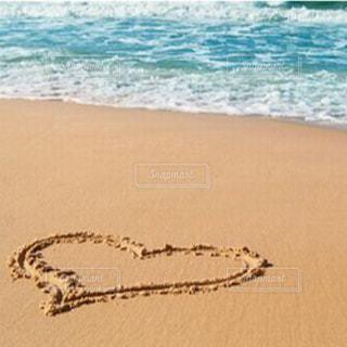 海,砂浜,ハート,浜辺