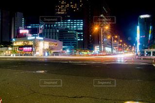 夜景,名古屋,光跡,夜の都会