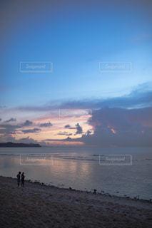 自然,空,夕日,夕焼け,海岸,グアム