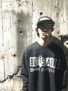 帽子をかぶった男の写真・画像素材[709900]