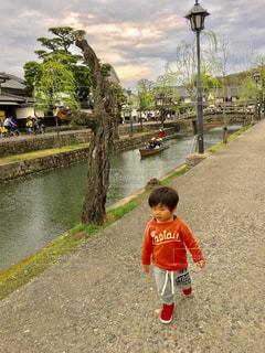 街,男の子,お散歩,倉敷,美観地区