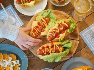食事,朝食,ランチ,テーブル,肉,ホットドッグ,ブランチ,ファストフード,ウィンナー,ジョンソンヴィル
