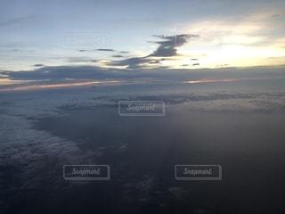 夕日,飛行機,日本,機内