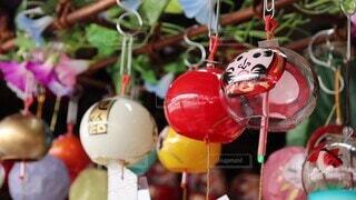 夏,季節,風鈴,音,たくさん,祭り,だるま,川崎風鈴市