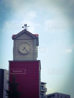 空,青空,時計,朝,時計塔,風見鶏