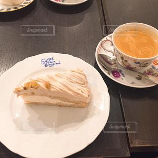 ケーキ,お茶,デート,ミルクティー,モンブラン,洋栗