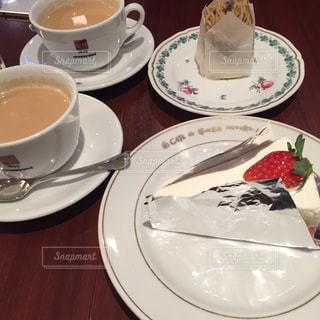 ケーキ,いちご,お茶,ミルクティー,ショートケーキ,モンブラン