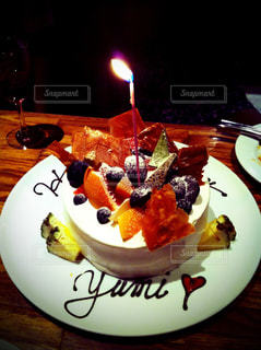 ケーキ,オレンジ,フルーツ,メロン,ハッピーバースデー,お誕生日,パイン,巨峰
