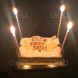ケーキ,ろうそく,ハッピーバースデー,お誕生日,レアチーズケーキ